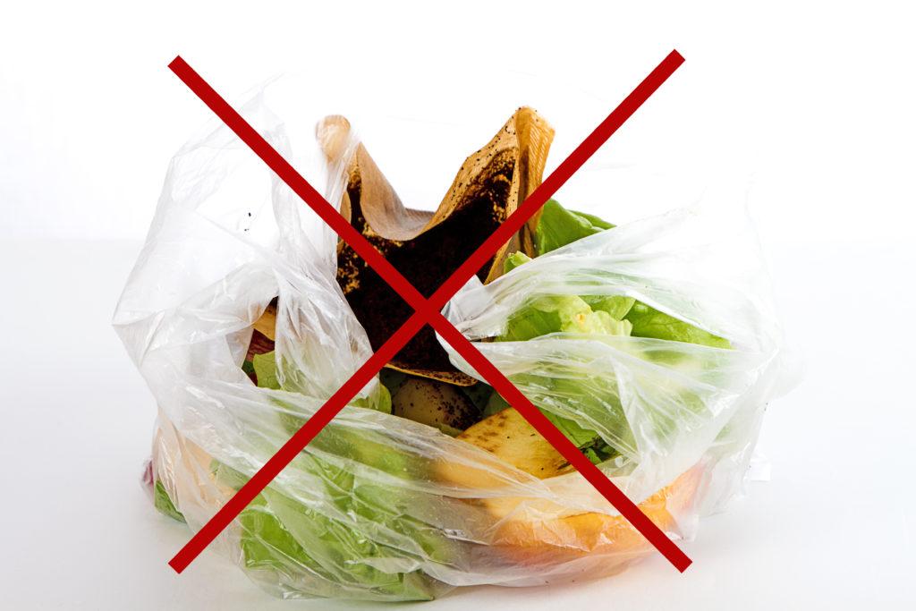 Kompostierbarer Müllbeutel