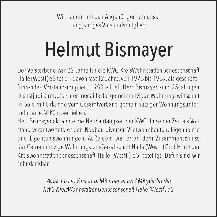 Nachruf Bismayer